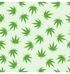 Marijuana background set vector image