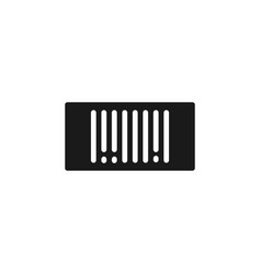 mass production bar code icon - simple element vector image