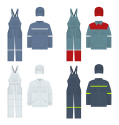 Men s overalls clothes in vector