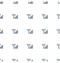 mobile signal icon pattern seamless white vector image