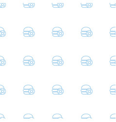 No fast food icon pattern seamless white vector