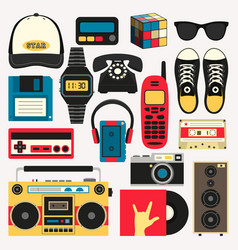 Old style equipments accessories vector