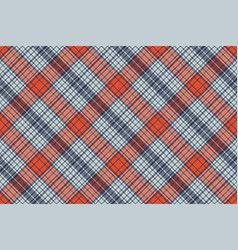 orange blue check plaid pixel texture vector image