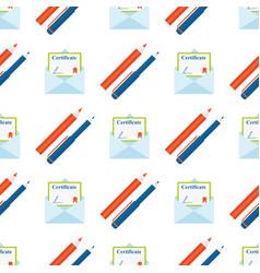 pencils colorful creative wallpaper certificate vector image