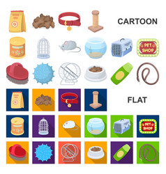 Pet shop cartoon icons in set collection for vector