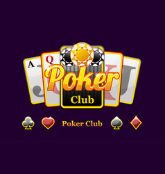 poker and playing card symbols vector image