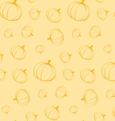 Pumpkins seamless pattern vector