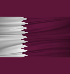 qatar flag flag of qatar blowig in the wind eps vector image