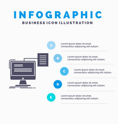 resume storage print cv document infographics vector image