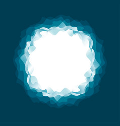 round frame sea water waves pattern vector image