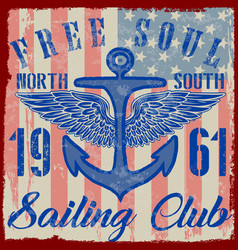 Sailing poster design vector