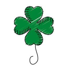 Saint patrick clover icon vector