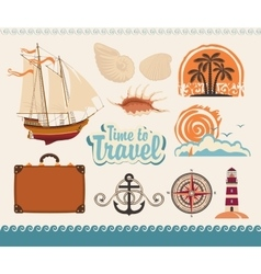 Sea and tourism vector