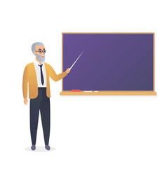 senior teacher old man professor standing in vector image
