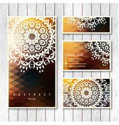 Set business visiting greeting cards vector