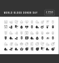 simple icons world blood donor day vector image