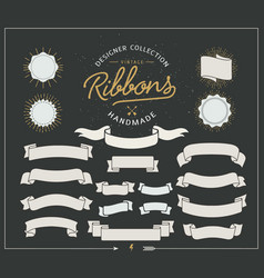 Starbursts frames and ribbons vector image