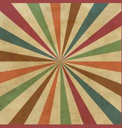 sunburst old background vector image