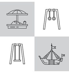 Swing for the playground vector