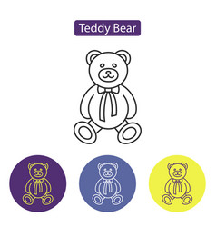 teddy bear line icon vector image