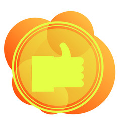 Thumbs up and heart icon on a white background vector