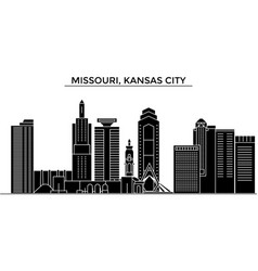 Usa missouri kansas city architecture vector