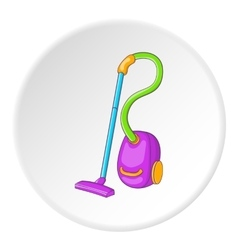 Vacuum cleaner icon cartoon style vector