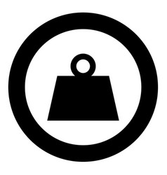 Weight black icon in circle vector