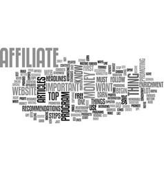 What you have to know to become a top affiliate vector