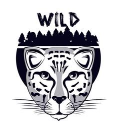 wild animal print for t shirt vector image