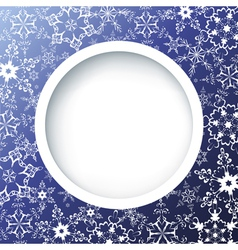 Winter creative background with ornate snowflakes vector
