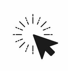 click icon computer mouse pointer click with arrow vector image vector image