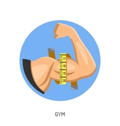 Gym and Fitness Concept vector image