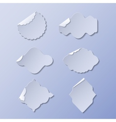 set of paper stickers vector image
