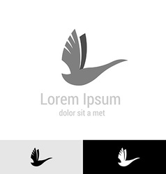 Swan silhouette logo template vector