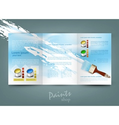 flyer template for business vector image vector image