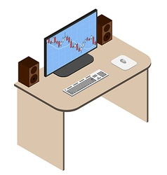 forex analyst working place vector image
