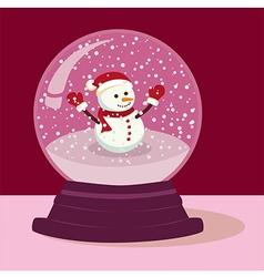 Purple Snowman Snow Ball vector image vector image