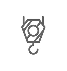 simple crane hook icon symbol and sign vector image vector image