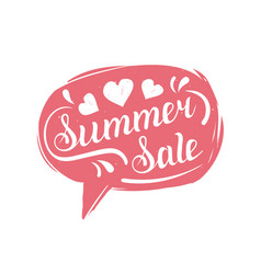summer sale typography in speech bubble discount vector image vector image