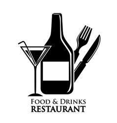 wine and restaurant icon design vector image