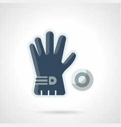 blue golf glove flat color icon vector image