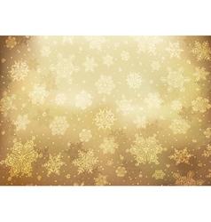 christmas background golden vector image