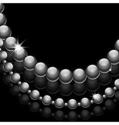 Glossy beads vector image