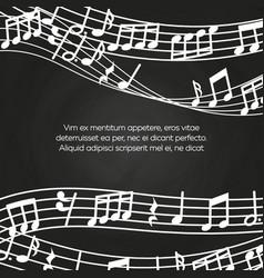 musical blackboard background design - chalkboard vector image