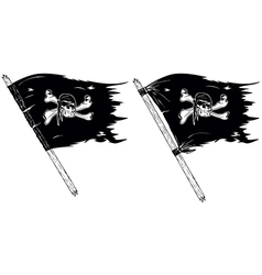 pirate flags vector image vector image