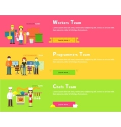 Programmers Team Workers People Chefs Group vector image vector image