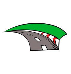 racing track icon icon cartoon vector image