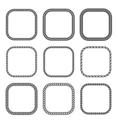 rope set of square frames collection vector image vector image