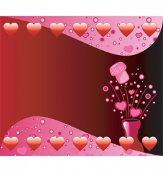valentine champagne background vector image vector image